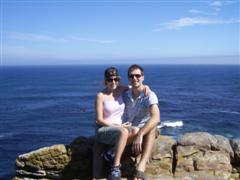 Jules and I having a great time at Cape Point